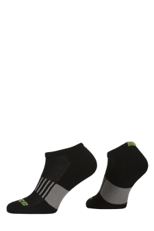PR00759 - Prince Classic Dry Cotton Lycra Men Low Cut Black Green Socks