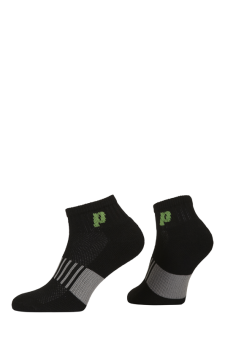 PR00760 - Prince Classic Dry Cotton Lycra Men Quarter Black Green Socks