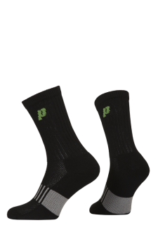 PR00761 - Prince Classic Dry Cotton Lycra Men Crew Black Green Socks