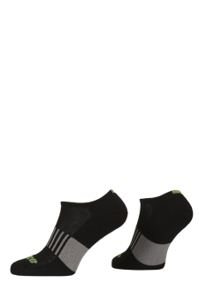 PR00762 - Prince Classic Dry Cotton Lycra Ladies Low Cut Black Green Socks