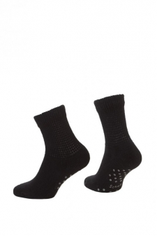 SH01784 - Scholl Comfort Cotton HOME Ladies Quarter_black