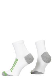PR00928 - Prince Squash Uni Quarter White Green Socks