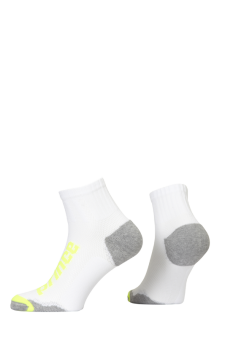 PR00928 - Prince Squash Uni Quarter White Yellow Socks