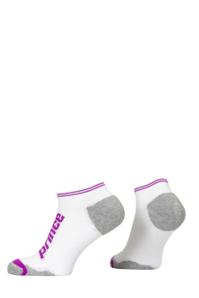 PR00929 - Prince Squash Ladies Low Cut White Purple Socks