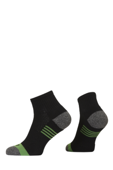 PR00800 - Prince Team CoolMax Men Quarter Black Green Socks