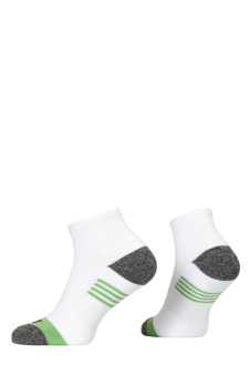 PR00800 - Prince Team CoolMax Men Quarter White Green Socks