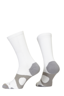 PR00734 - Prince Tour Protect Men Crew White Grey Socks