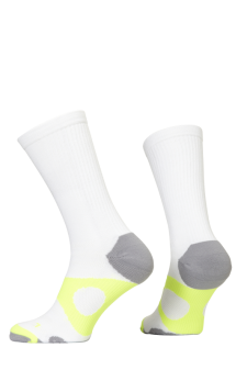 PR00734 - Prince Tour Protect Men Crew White Yellow Socks