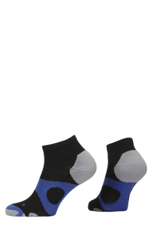 PR00735 - Prince Tour Protect Men Quarter Black Blue Socks