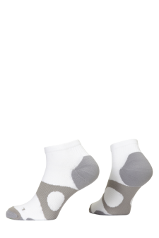 PR00735 - Prince Tour Protect Men Quarter White Grey Socks