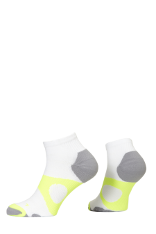 PR00735 - Prince Tour Protect Men Quarter White Yellow Socks