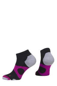PR00737 - Prince Tour Protect Ladies Quarter Black Berry Socks