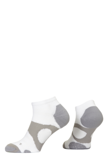 PR00737 - Prince Tour Protect Ladies Quarter White Grey Socks