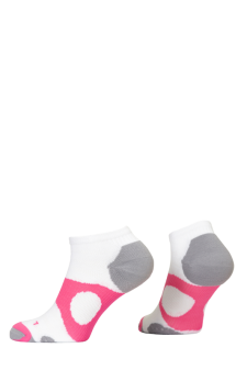 PR00737 - Prince Tour Protect Ladies Quarter White Pink Socks