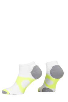 PR00737 - Prince Tour Protect Ladies Quarter White Yellow Socks