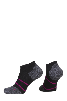 PR00847 - Prince Tour Arikool Ladies Quarter Black Pink Socks