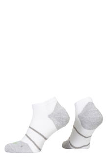 PR00847 - Prince Tour Arikool Ladies Quarter White Grey Socks