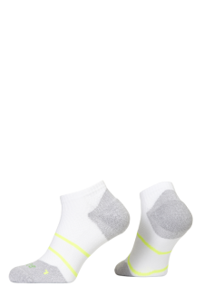 PR00847 - Prince Tour Arikool Ladies Quarter White Yellow Socks