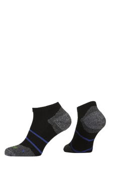 PR00849 - Prince Tour Arikool Men Quarter Black Blue Socks