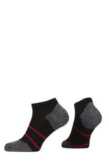 PR00849 - Prince Tour Arikool Men Quarter Black Red Socks