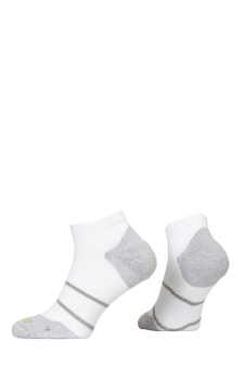 PR00849 - Prince Tour Arikool Men Quarter White Grey Socks