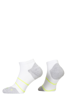 PR00849 - Prince Tour Arikool Men Quarter White Yellow Socks