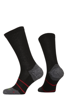 PR00850 - Prince Tour Arikool Men Crew Black Red Socks