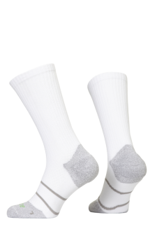 PR00850 - Prince Tour Arikool Men Crew White Grey Socks