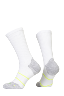 PR00850 - Prince Tour Arikool Men Crew White Yellow Socks